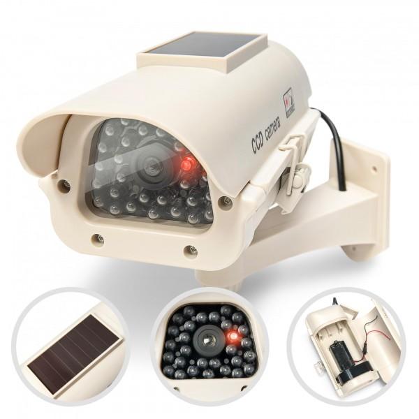 Solární atrapa bezpečnostní kamery LED + uchycení