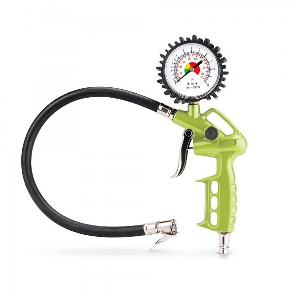 """Plnič pneumatik s manometrem - včetně 1/4 """" tlakové hadice"""