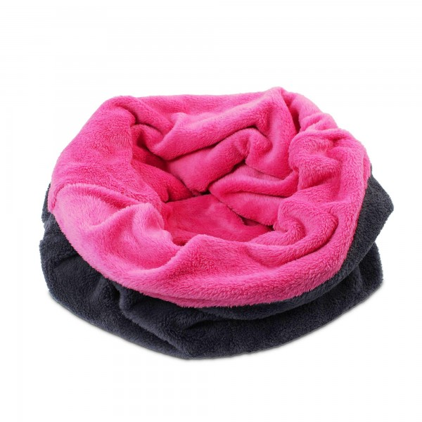 3 v 1 deka pro psy, spací pytel 3 v 1 XXL růžová/šedá, flís