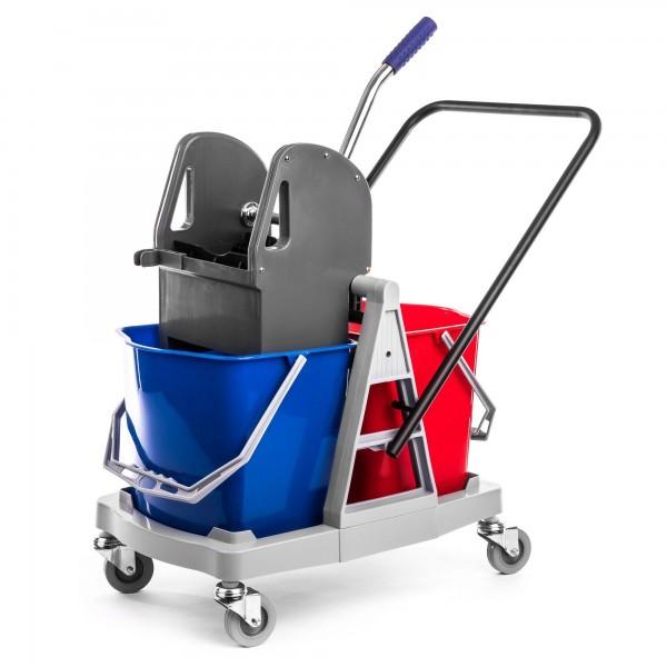 Schengler plastový úklidový vozík se 2 kbelíky 2 x 17,5 L
