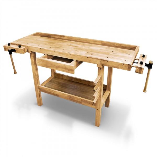 Dřevěný dílenský pracovní stůl, hoblice, ponk 1370 x 500 x 860 mm