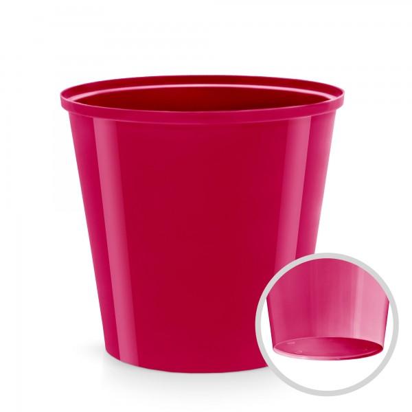 Plastový květináč - červenofialový - průměr 130 mm - kulatý