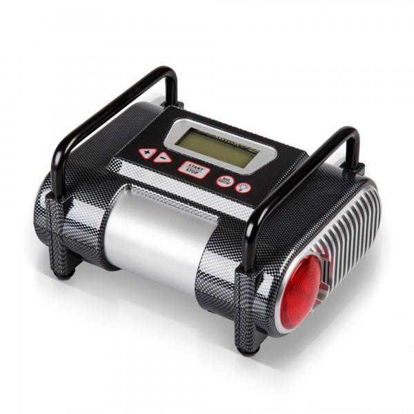 Digitální kompresor 12 V automatický s LCD a světlem, 6,9 bar
