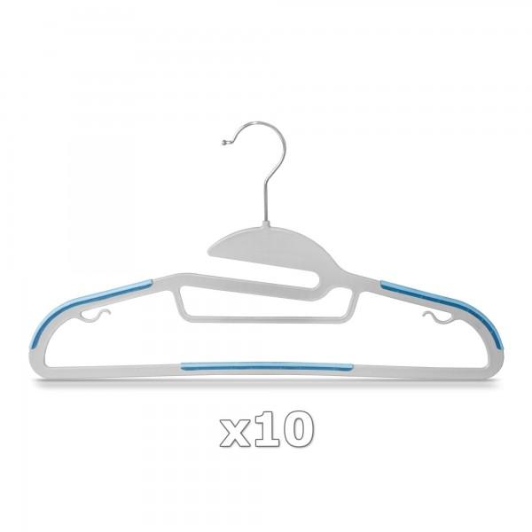 Plastové ramínko na oděvy světle modré 10 ks