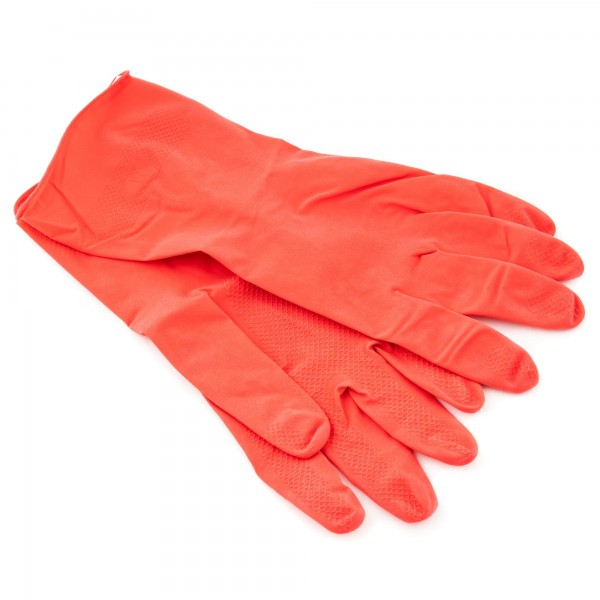 1 pár rukavic pro více použití v domácnosti z latexu - vel. S