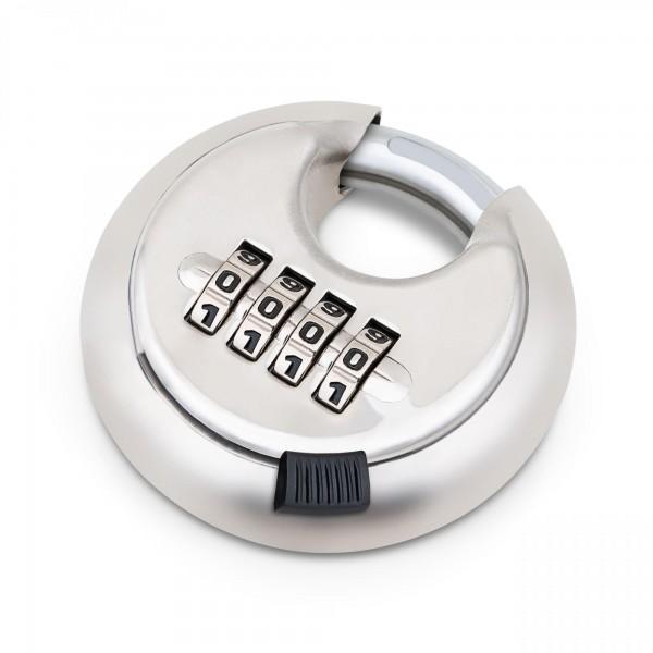 Visací číselný zámek kulatý, čtyřmístný 70 mm