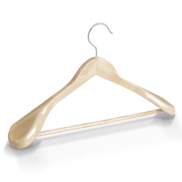 Dřevěné ramínko na oděvy šaty natur přírodní