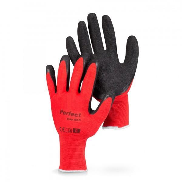 Pracovní rukavice Perfect Grip Red vel. 9, 1 pár, červené, BRADAS