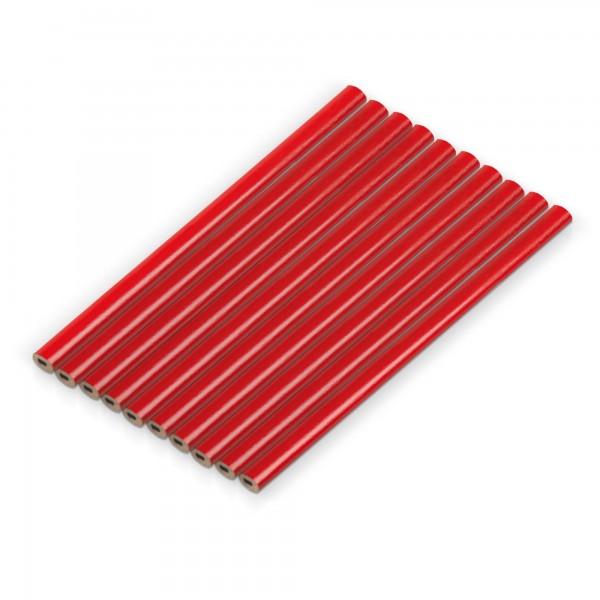 Tesařské tužky 175 mm - 10 ks - červené