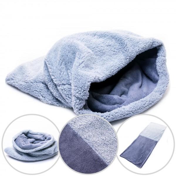 Marysa psí deka 3 v 1 XL šedá / světle šedá 74 x 60 cm pelíšek