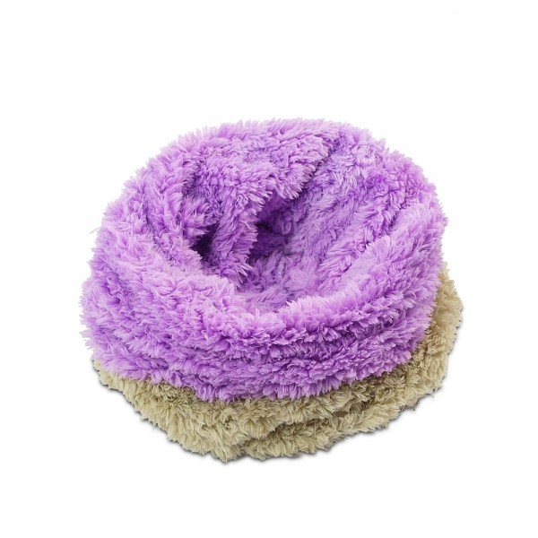 Deka 3v1 - spací pytel - polštář pro domácí mazlíčky - fleece - béžová + fialová