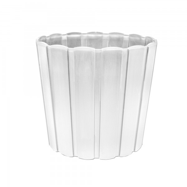 Plastový květináč 239 mm - bílý 7 l PROSPERPLAST BOARDEE BASIC DDE240
