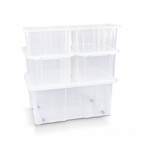 Prosperplast úložný box s víkem 5dílná sada