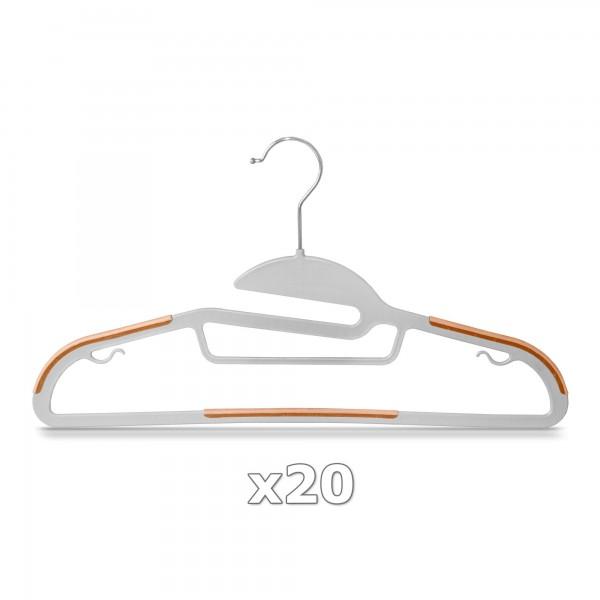 Plastové ramínko na oděvy oranžové 20 ks