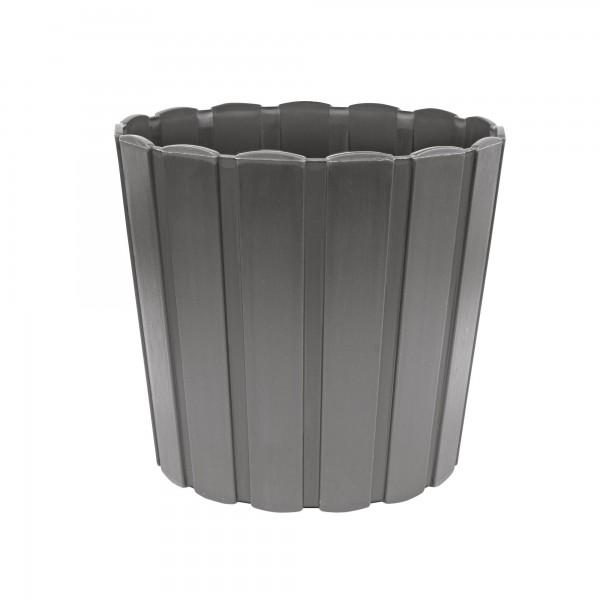 Plastový květináč 165 mm - šedý PROSPERPLAST BOARDEE BASIC DDE170