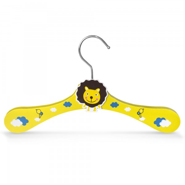 Dřevěné ramínko pro děti na oděvy s motivem lev