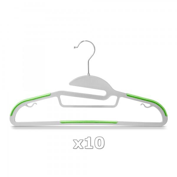 Plastové ramínko na oděvy zelené 10 ks