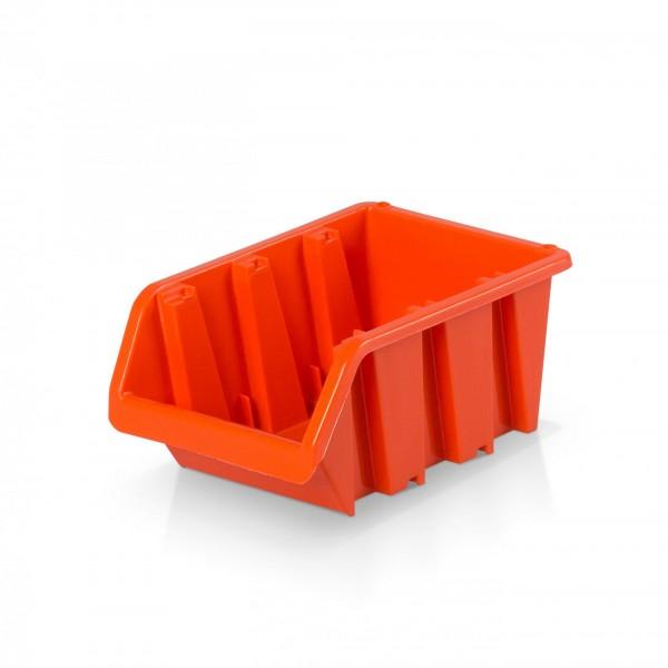 Plastový závěsný box rozměr 2 - oranžový 10 x 15,5 x 7 cm